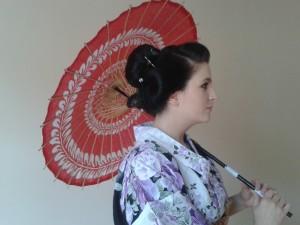 Sesja zdjęciowa w stroju japońskim
